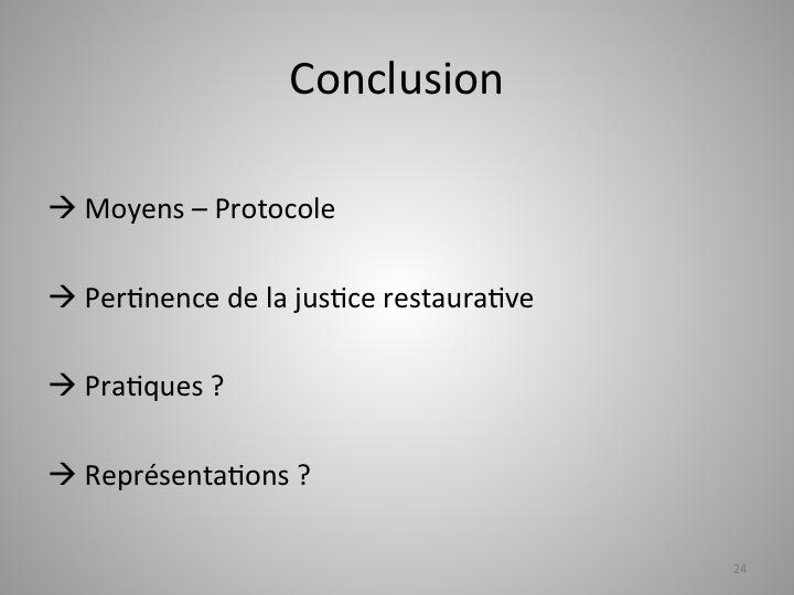 Justice Restaurative En France