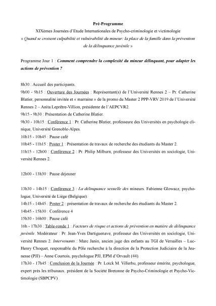 Pré-programme 1